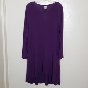 Chico's tunic knit button back top